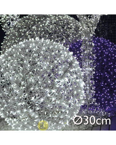 LED wicker ball 30cms IP44 suitable for outdoor 230V 9W