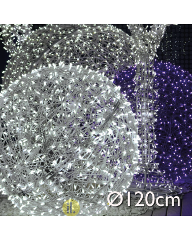 LED wicker ball 120cms IP44 suitable for outdoor 230V 96W