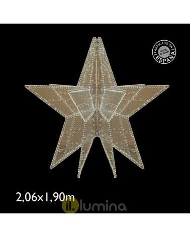 Giant Star 3D LED Warm White Light Flashing cool White Light 2.06 Meters IP65 230V 186W