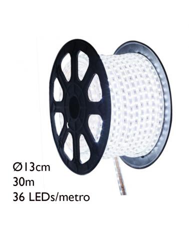 Bobina 30m hilo LED, 36 leds x metro 1080 leds IP54 baja tensión 24V