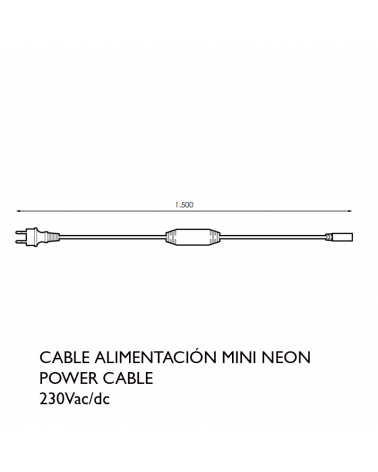 White power cable for Mini Neon LED tube