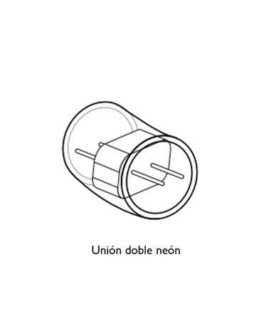 Simple connection for double LED tube Neon white