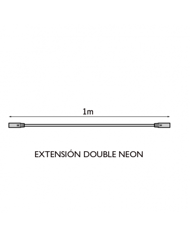 100cms extension for double LED tube Neon white