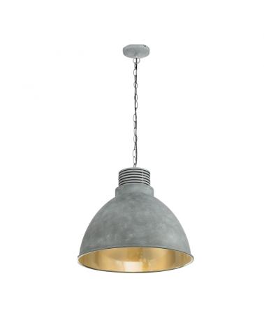 Ceiling lamp diameter 47cm E27 max. 40W made in aluminum and matt chrome grey finish