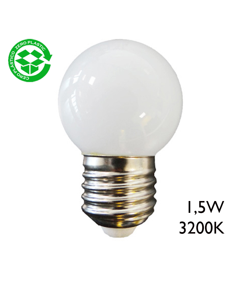 LED Golf Ball bulb 1,5W E27 43mm Warm light 3200K
