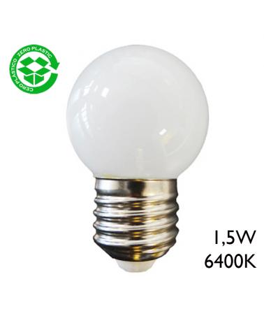 LED Golf Ball bulb 1,5W E27 43mm Day light 6400K