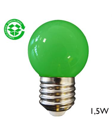 LED Golf Ball bulb 1,5W E27 43mm Green light