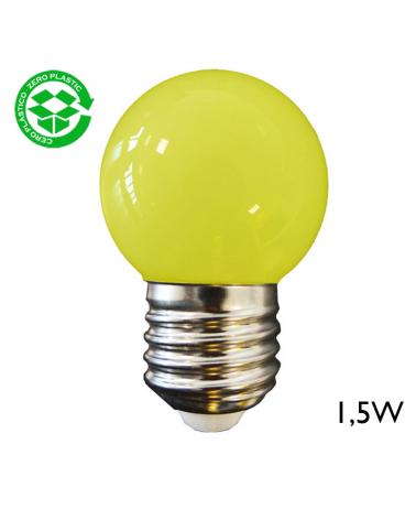 LED Golf Ball bulb 1,5W E27 43mm Yellow light
