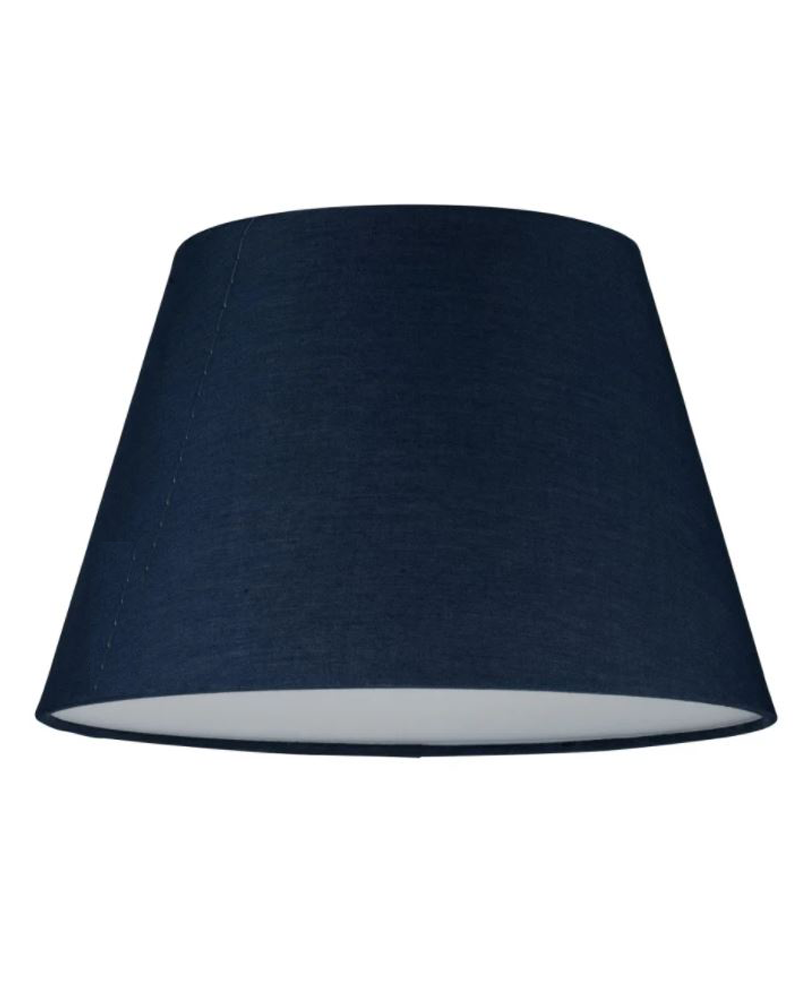 Ceiling lamp 25cm 20W E14 with fabric blue lampshade