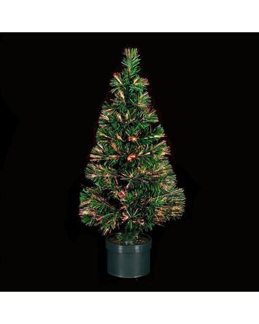 Árbol de Navidad verde de 120cm de fibra óptica