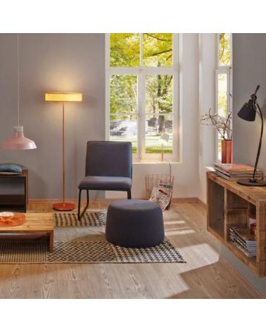 Lámpara de pie de diseño 142cm madera y base de metal cromo E27 3x20W