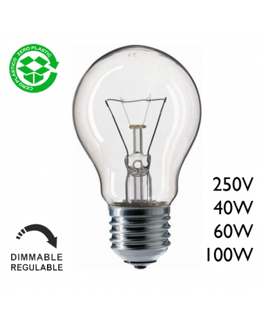 Classic filament standard incandescent lamp 250W E27 Clear