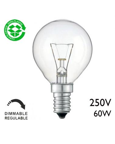 Classic filament golf ball incandescent lamp 60W E14 Clear