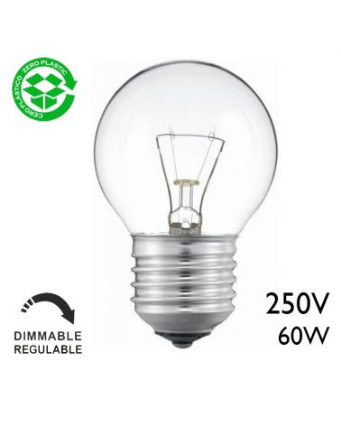 Classic filament golf ball incandescent lamp 60W E27 Clear