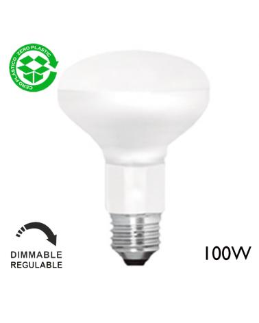 Bombilla reflectora LED R80 10W E14 80mm 125V mate