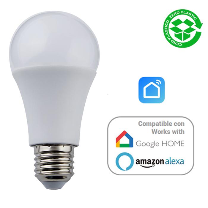 Bombilla inteligente compatible Alexa LED Estándar 10W